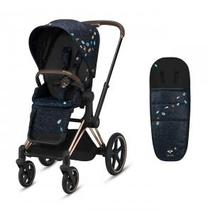 Cybex - BU533 - Poussette Priam et chancelière Jewels of Nature (458400)