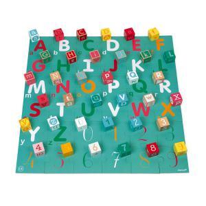 Janod - J08307 - Kubix 40 cubes + puzzle lettres / chiffres (458800)