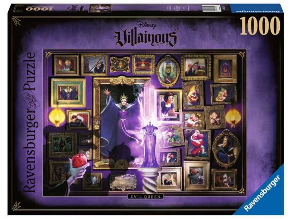 Puzzle 1000 pièces - la méchante reine-sorcière (collection disney villainous)