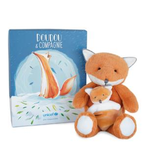 Doudou et compagnie - DC3790 - UNICEF BEBE & MOI - Renard 25 cm en boîte carton (463334)