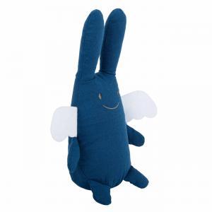 Trousselier - VM1082 65 - Ange Lapin Doudou Musical 24Cm - Coton Bio Bleu Denim (463576)