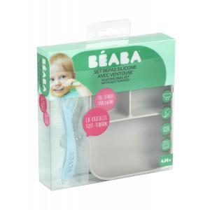 Beaba - 913508 - Set repas silicone 2 pièces comp - grey (464602)