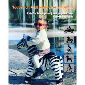 Ponycycle - Ux368 - Ponycycle Zèbre à monter petit modèle sonore avec frein 69x33x79 cm - Age 3-5 ans (464864)