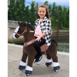 Ponycycle - Ux421 - Ponycycle Cheval à monter grand modèle sonore avec frein 84x40x97 cm - Age 4-9 ans (464866)
