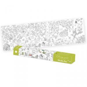 Moulin Roty - 712609 - Coloriage géant Le botaniste Le Jardin du Moulin (465656)