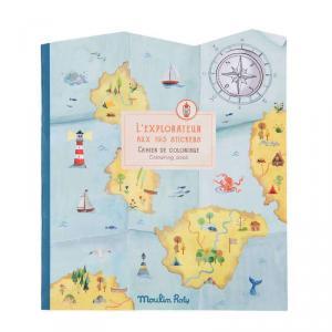 Moulin Roty - 712605 - Cahier stickers L'explorateur Le Jardin du Moulin - 20 pages (emb/6) (465662)