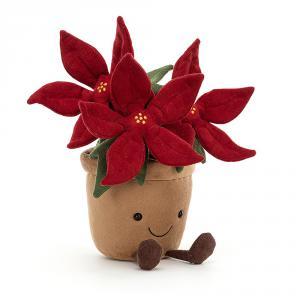 Jellycat - A1PON - Peluche Amuseable fleur Poinsettia (465680)