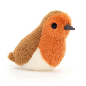 Jellycat - BIR6RB - Peluche oiseau rouge-gorge (465704)