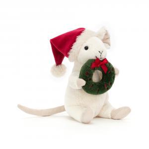 Jellycat - MER3W - Peluche souris de Noël couronne de l Avent (465738)