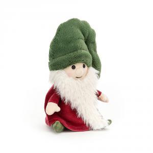 Jellycat - NG3N - Peluche Nisse gnome de Noël (chapeau vert) (465754)
