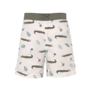 Lassig - 1431009132-18 - Short de bain garçon crocodile blanc 18 mois (465856)