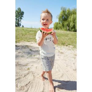 Lassig - 1431009575-24 - Short de bain garçon rayé olive 24 mois (465864)