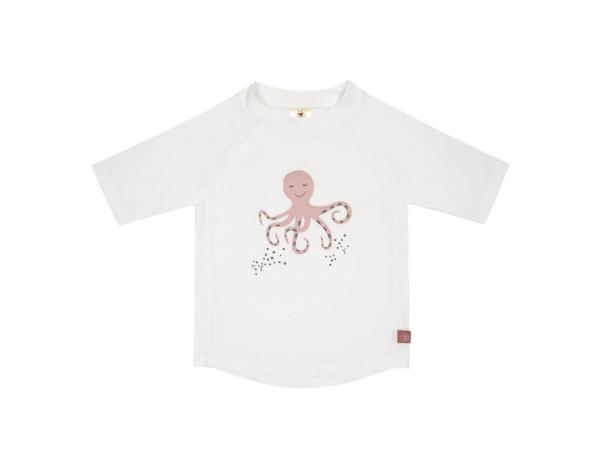 T-shirt anti-uv manches courtes octopus blanc 6 mois