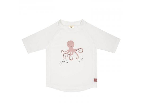 T-shirt anti-uv manches courtes octopus blanc 24 mois