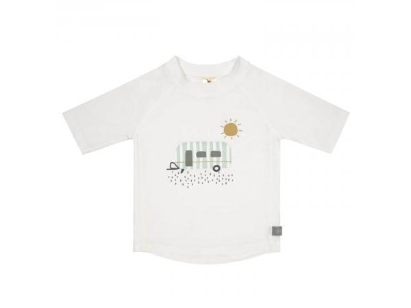 T-shirt anti-uv manches courtes caravane blanc 6 mois