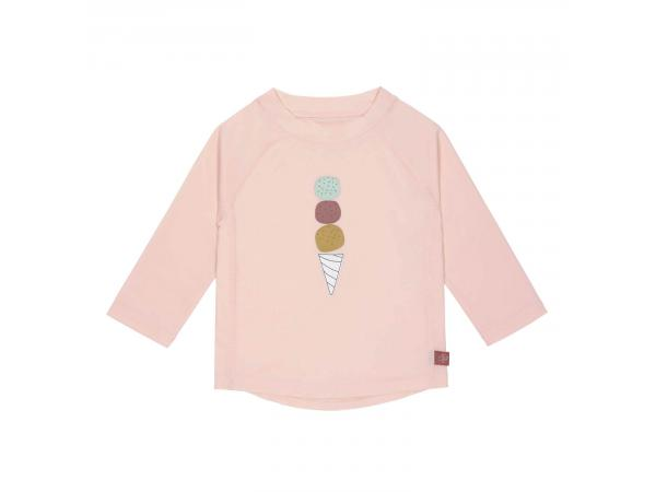 T-shirt anti-uv manches longues glace rose 24 mois