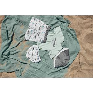 Lassig - 1433005132-12 - Chapeau anti-UV réversible crocodile blanc 6-18 mois (465916)