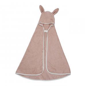 Fabelab - 2006238196 - Cape de bain bébé petit lapin vieux rose (466858)