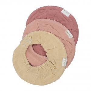 Fabelab - 2006238176 - Set de 3 bavoirs en coton rose pastel (466930)
