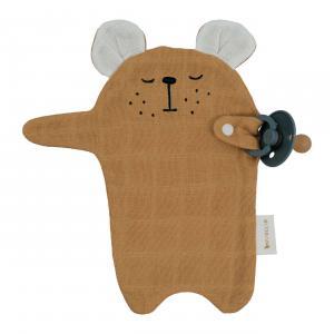 Fabelab - 2006238093 - Pacifier Cuddle - Bear - Ochre (466948)