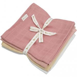 Fabelab - 2006238130 - Pack de 4 langes en mousseline rose pastel (466966)