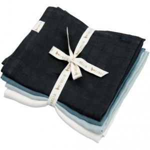 Fabelab - 2006238131 - Pack de 4 langes en mousseline bleu (466970)
