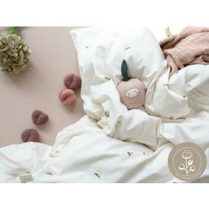 Fabelab - 2006238078 - Parure de lit pour bébé blanc imprimé pêche 100x140 cm (467026)