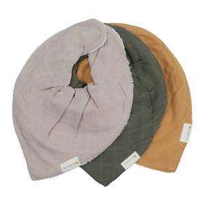 Fabelab - 2006238230 - Set de 3 bavoirs bandana en coton olive (467048)