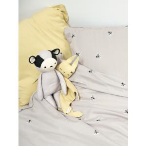 Fabelab - 2006238118 - Doudou lapin en coton jaune pâle 34x26 cm (467066)