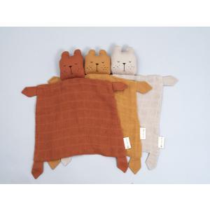 Fabelab - 2006238121 - Doudou ours en coton beige 34x26 cm (467068)