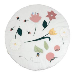 Fabelab - 2006238137 - Tapis d'éveil et d'activité fleuri 100 cm (467070)