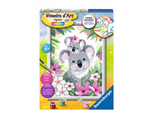 Numéro d'art - moyen - maman koala et son bébé