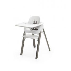 Stokke - BU413 - Pack chaise haute STEPS Gris brume avec baby set et tablette (470860)