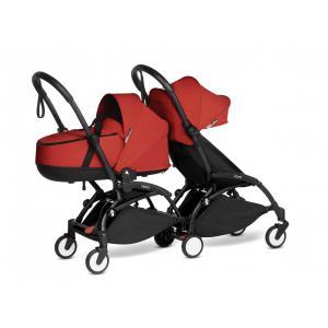 Babyzen - BU956 - Poussette double YOYO² nacelle, 6+ Rouge - cadres noirs (470948)