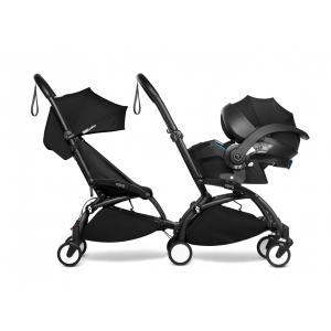 Babyzen - BU973 - Poussette double YOYO² 6+ Noir, siège-auto - cadres noirs (470982)