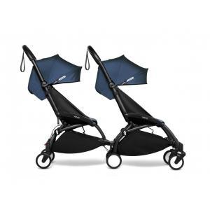 Babyzen - BU988 - Poussette double YOYO² 6+ Bleu Air France - cadres noirs (471012)