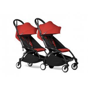Babyzen - BU992 - Poussette double YOYO² 6+ Rouge - cadres noirs (471020)