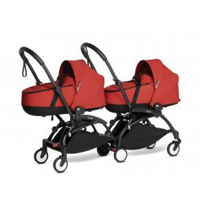 Babyzen - BU1010 - Poussette double YOYO² nacelles Rouge - cadres noirs (471056)