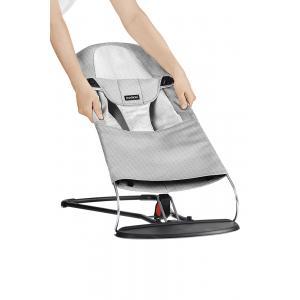 Babybjorn - 010029 - Housse pour Transat Balance Soft, Argent - Blanc, Mesh (471134)