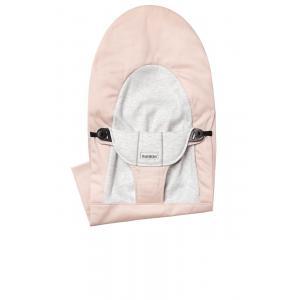 Babybjorn - 010089 - Housse pour Transat Balance Soft, Rose Clair - Gris, Coton Jersey (471144)
