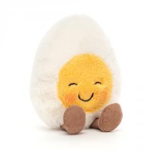 Jellycat - BE6BLU - Peluche œuf à la coque rougissant (471626)