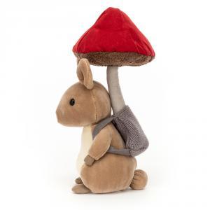 Jellycat - FNG2B - Peluche lapin avec son champignon (471704)