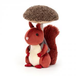 Jellycat - FNG2S - Peluche écureuil avec son champignon (471706)
