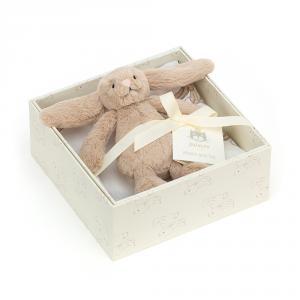 Jellycat - BASBB2SET - Coffret cadeau lapin beige Bashful (471882)
