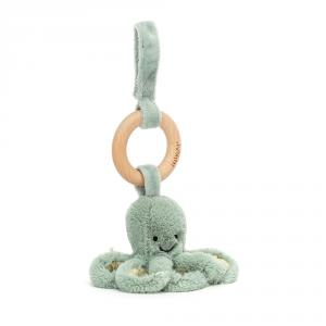 Jellycat - ODY4W - Odyssey Octopus Wooden Ring Toy (471892)