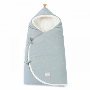Nobodinoz - COZYNATURAL033 - Nid d'ange Cozy Willow soft Blue (472562)