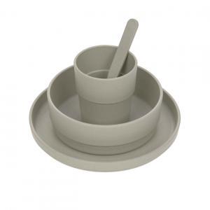 Lassig - 1310040265 - Coffret repas Uni gris (472946)