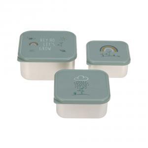 Lassig - 1310074964 - Lot de 3 petites boîtes à goûter Garden Explorer (472952)