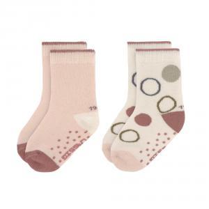 Lassig - 1532002996-19 - Lot de 2 chaussettes antidérapantes crème-rose clair 19-22 (472972)