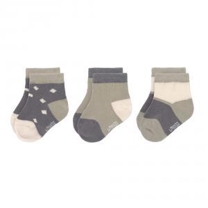 Lassig - 1532006995-15 - Lot de 3 Socquettes anthracite-vert 15-18 (472980)